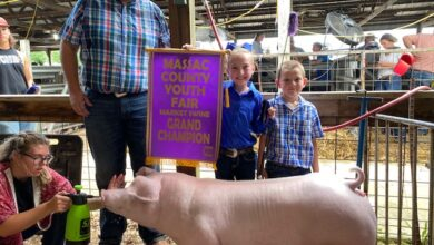Anna Claire West, was the Market Swine Show Grand Champion Winner at the Massac County Youth Fair held in mid-June.